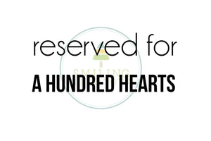 custom listing | A Hundred Hearts