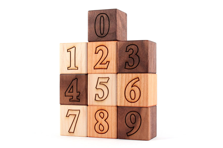 hardwood-number-block-set