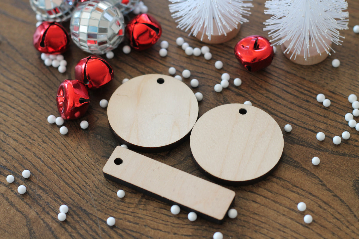 wooden Christmas gift tags