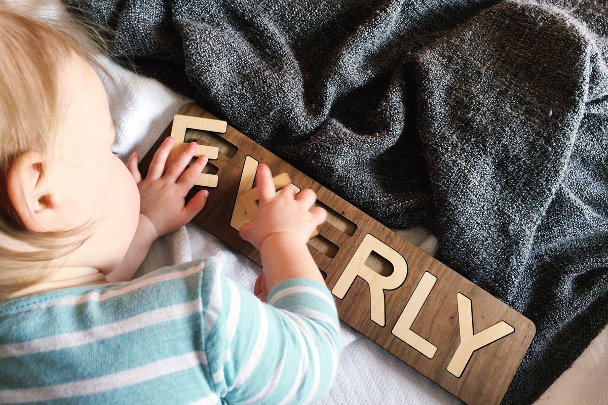 personalized wooden name puzzle for child