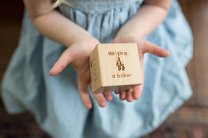 personalized wooden keepsake childrens block
