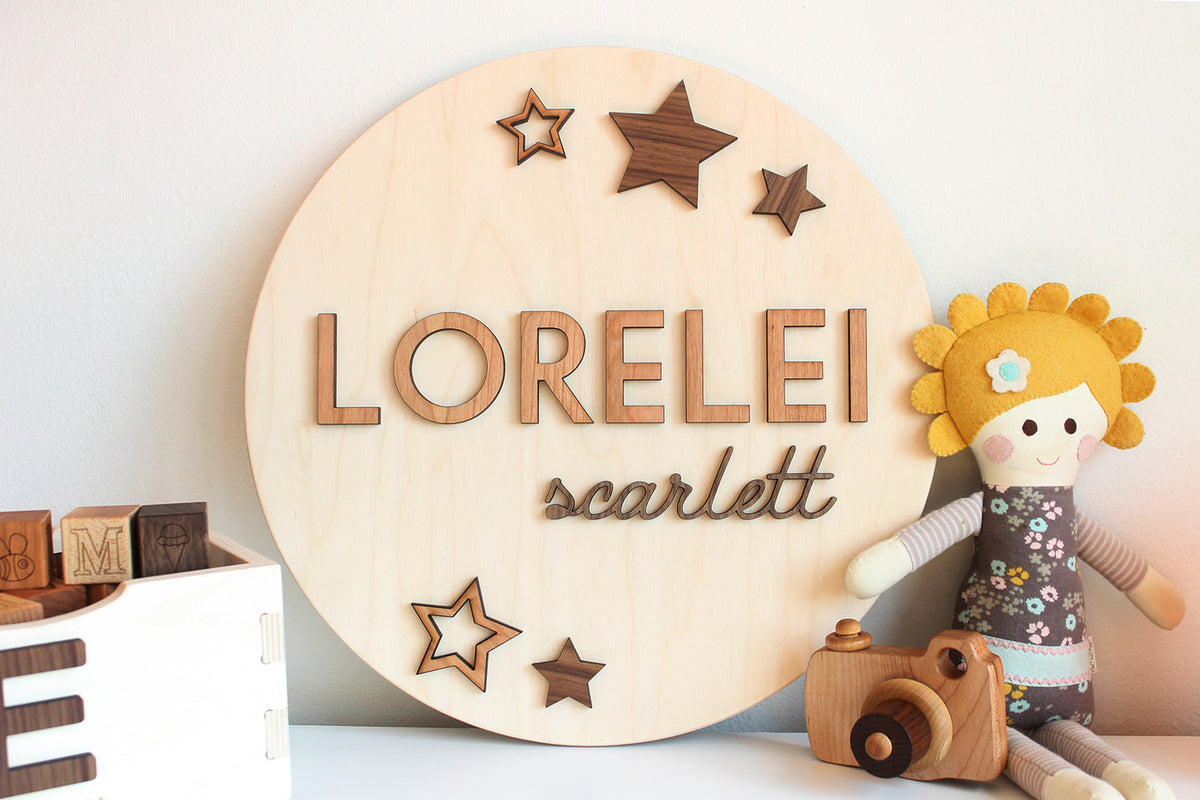 name sign for nursery personalized boy girl wall decor