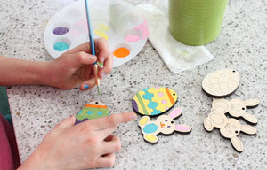 handmade DIY Easter tree ornaments for kids