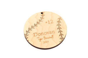 personalized baseball ornament