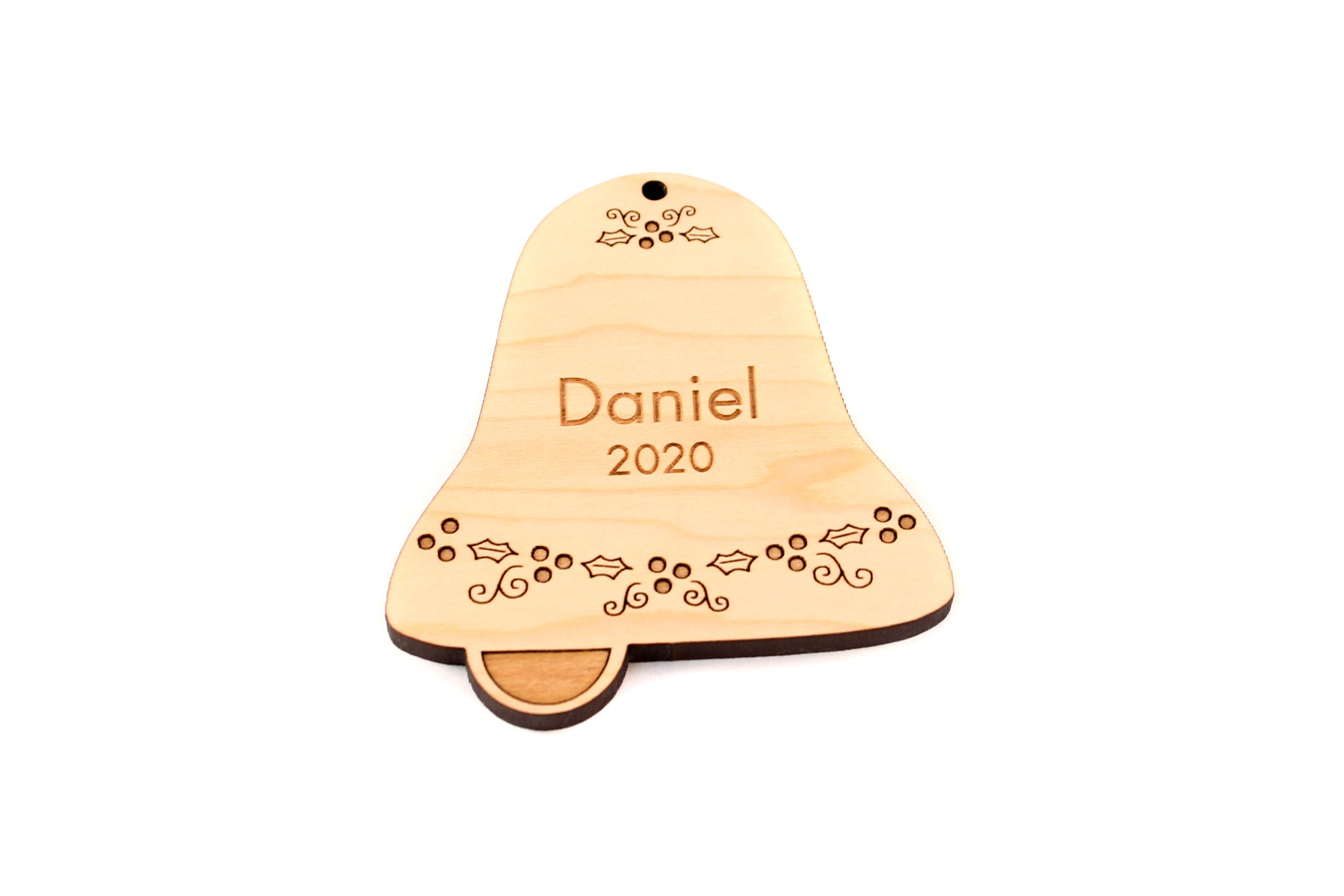 personalized bell ornament