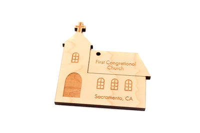 personalized church ornament