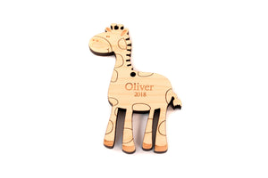 personalized giraffe ornament