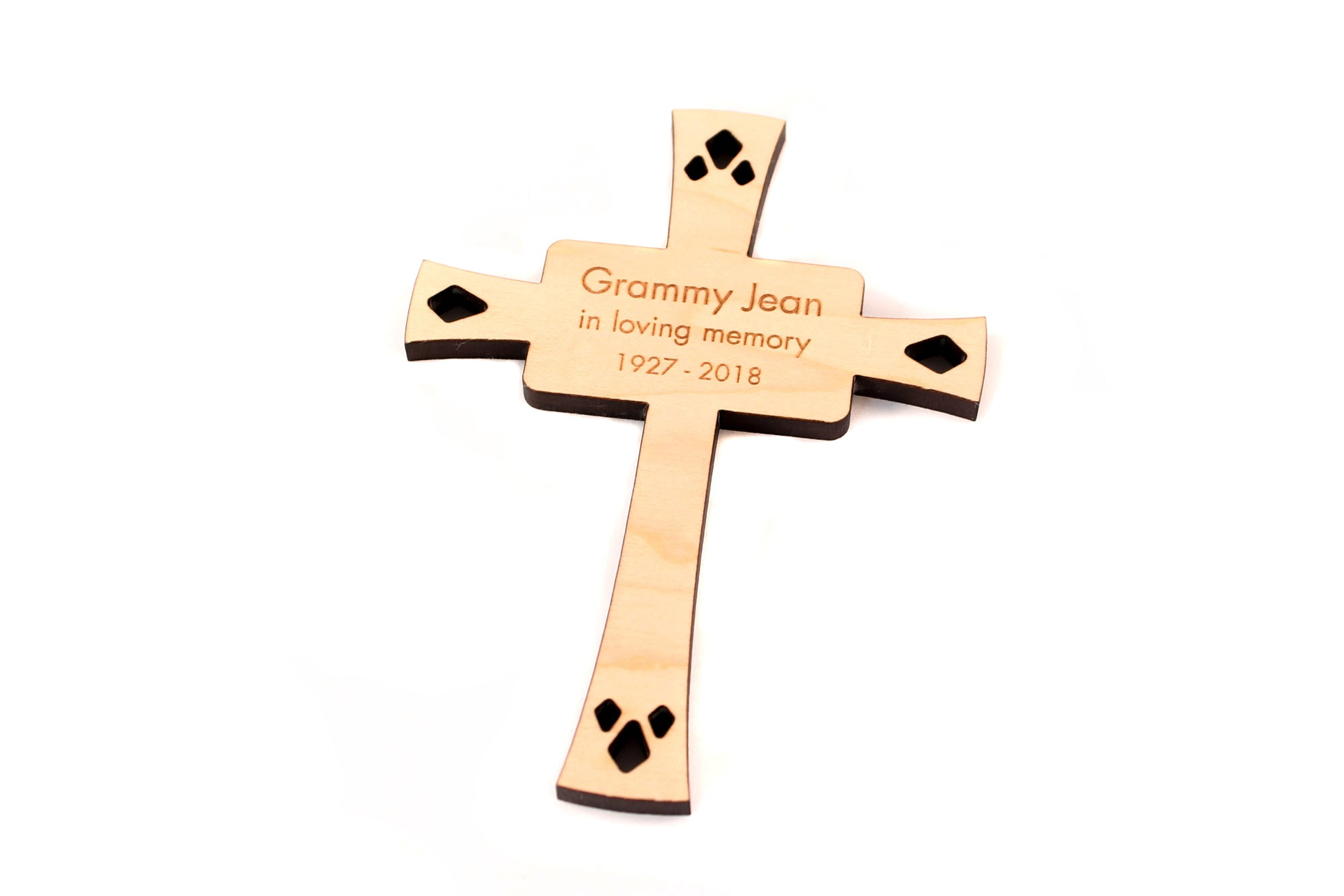 engraved cross ornament
