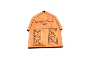 personalized farm barn ornament