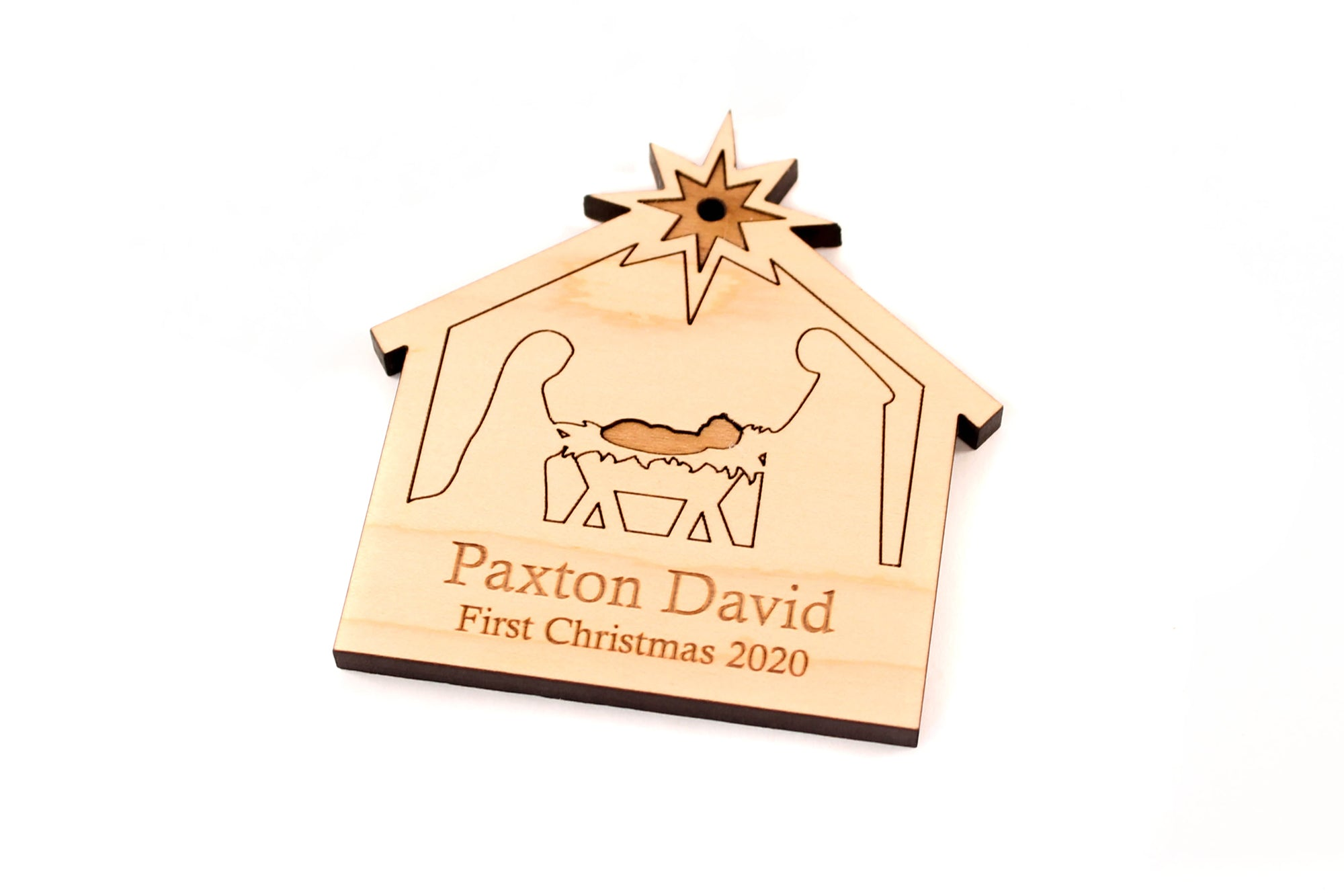 personalized nativity ornament