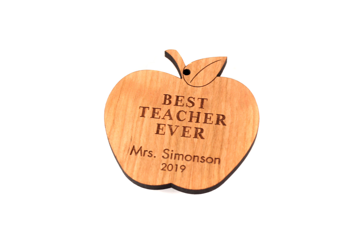 personalized apple ornament