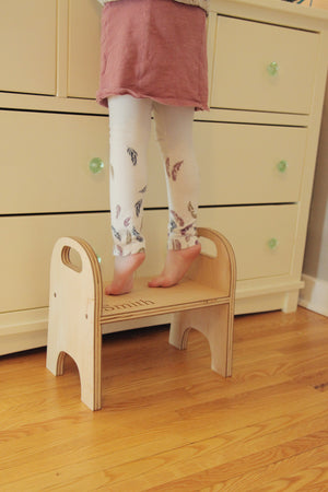personalized kids wooden stepping stool