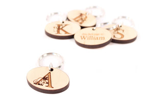 personalized zipper pull charm for child
