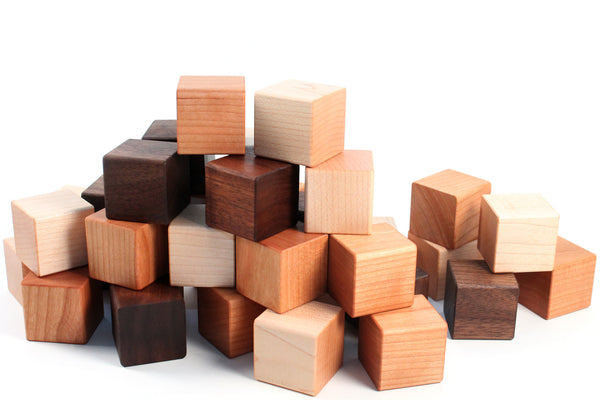 24 Piece Wooden Blocks Set Smiling Tree
