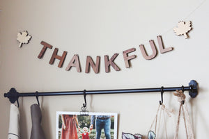Thanksgiving wall decor wooden letters for wall