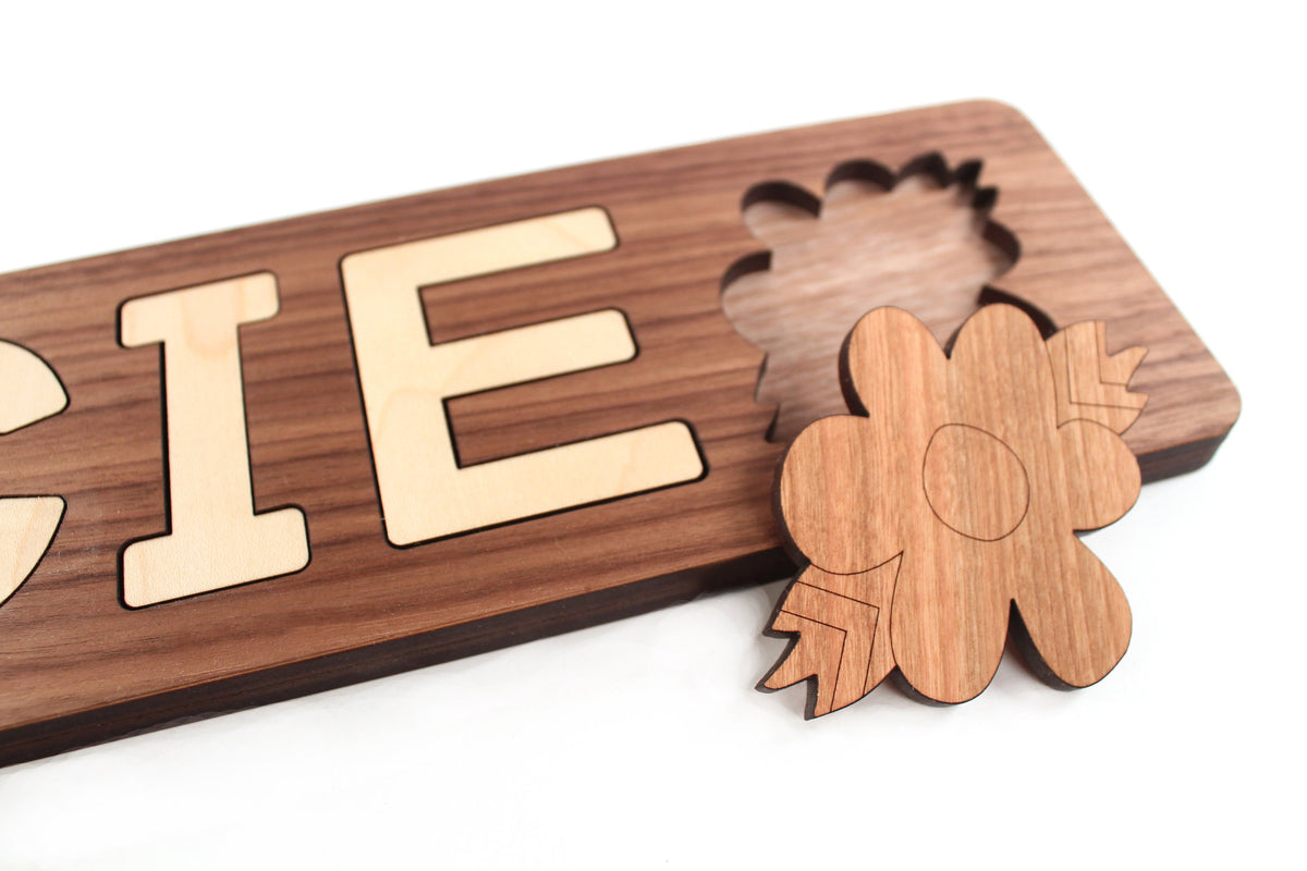 wooden name puzzles for babies and toddlers Smiling Tree Toys