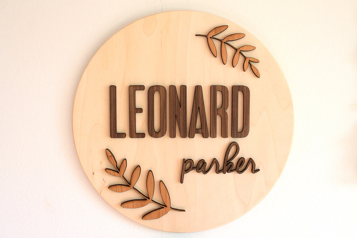 wooden name sign for nursery boy or girl