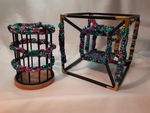 Cicely Metal Wire Cube + Pencil Holder