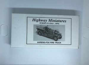Jordan's Highway Miniatures - Ahrens-Fox Fire Truck