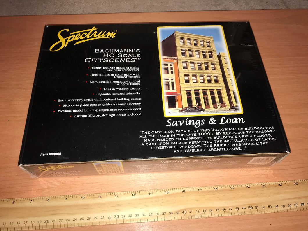 Bachmann Spectrum Savings & Loan, HO Scale