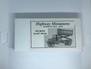 Jordan's Highway Miniatures - 1923 Mack Hi-Lift Truck