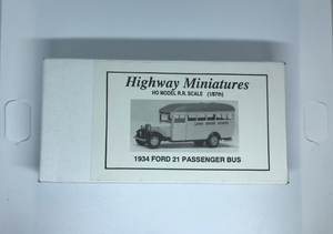 Jordan's Highway Miniatures - 1934 Ford 21 Passenger Bus