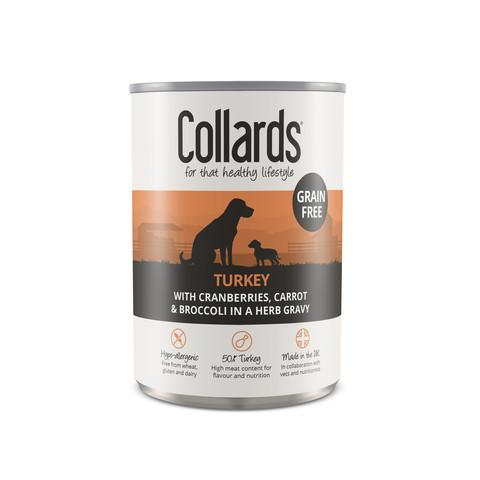 Collards Adult Dog Wet Can With Turkey 12 x 390g