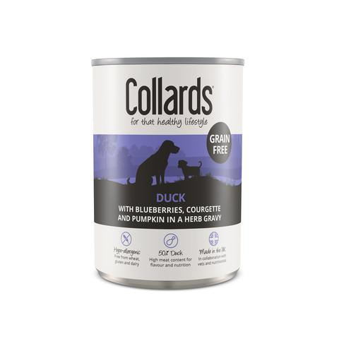 Collards Adult Dog Wet Can With Duck 12 x 390g