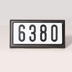"Aero-Lite TBK4 Standard 4"" Lighted Address Sign (Black) - Ready Wholesale Electric Supply and Lighting"