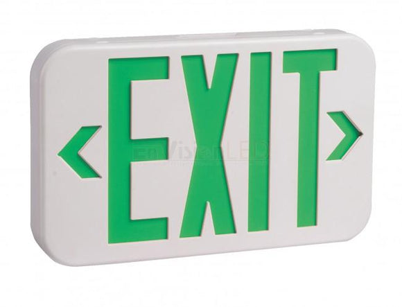 EnVisionLED LED-EM-EXT-G-WH - Emergency Exit Sign Single/Double Sided (Green) - Ready Wholesale Electric Supply and Lighting