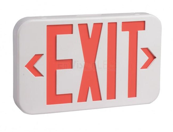 EnVisionLED LED-EM-EXT-R-WH - Emergency Exit Sign Single/Double Sided (Red) - Ready Wholesale Electric Supply and Lighting