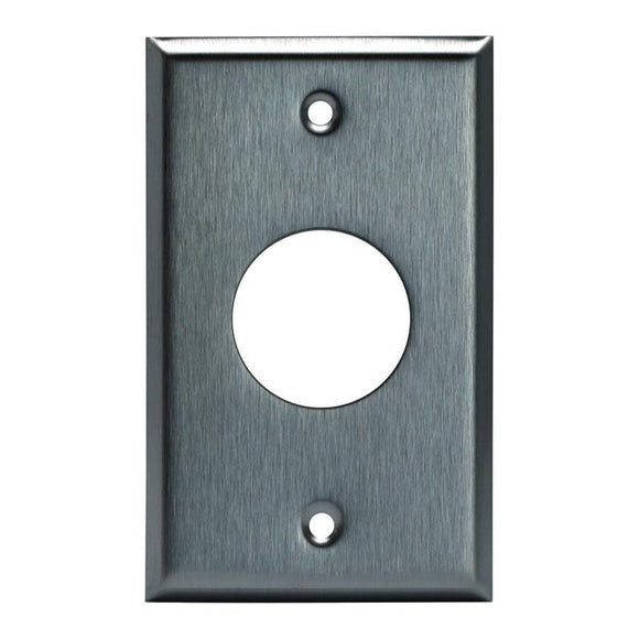 Enerlite 7751 1-Gang, Single Receptacle Metal Plate, 1.406