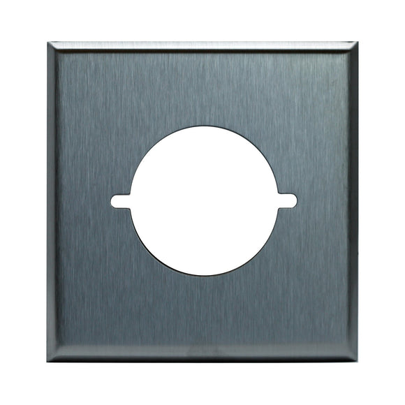 Enerlite 7772 2-Gang Power Outlet Metal Plate, 2.125