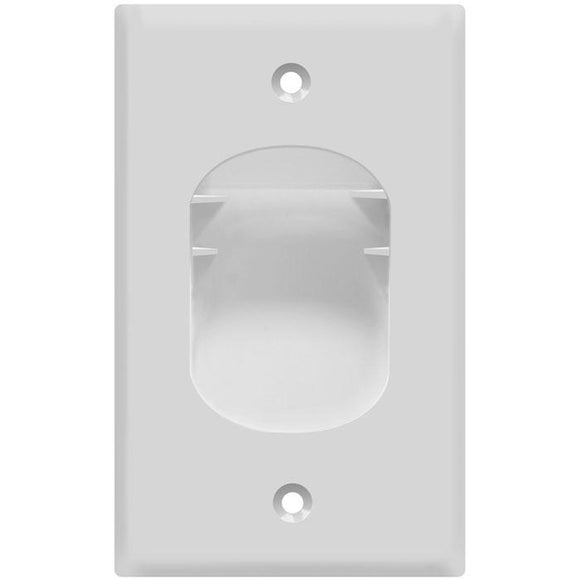 Enerlite 8881-W Single Gang Recessed Plate - Ready Wholesale Electric Supply and Lighting