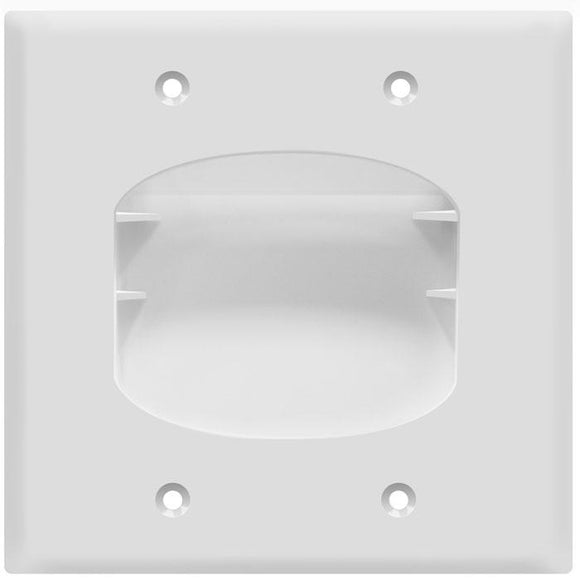 Enerlite 8882-W Double Gang Recessed Plate - Ready Wholesale Electric Supply and Lighting