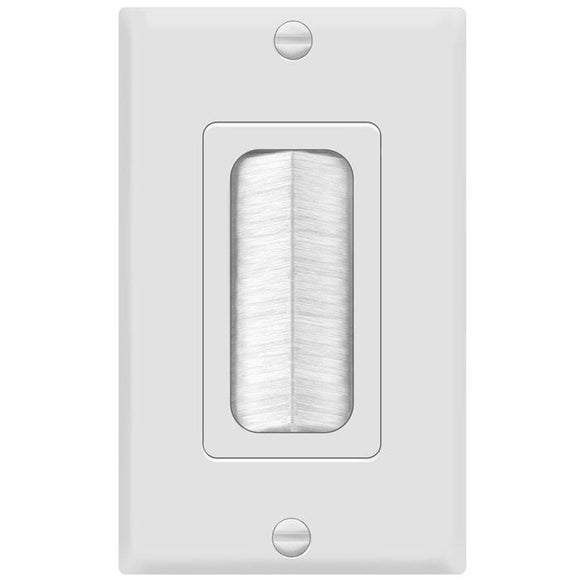 Enerlite 8891-W Single Brush Wallplate - Ready Wholesale Electric Supply and Lighting