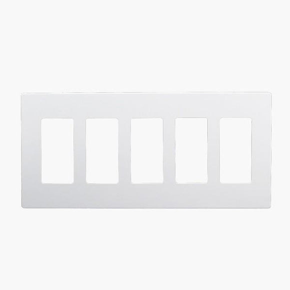 Enerlite SI8835-W 5-Gang Screwless Wall Plate Cover - Ready Wholesale Electric Supply and Lighting