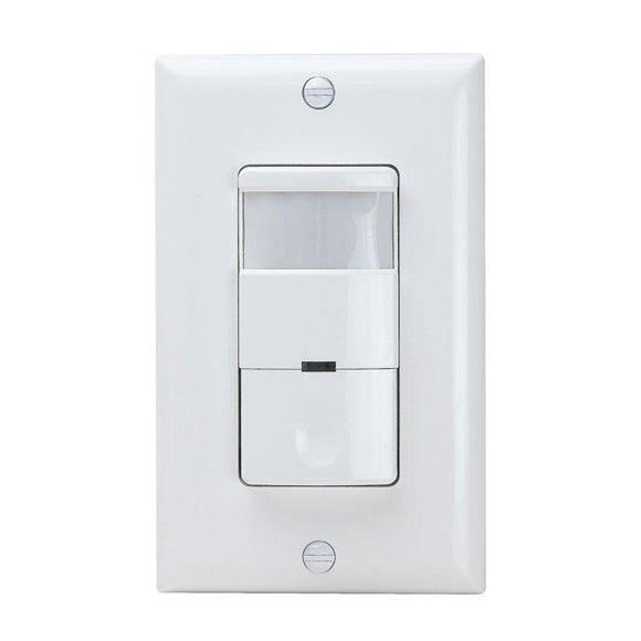 Enerlites DWOS-J-W PIR Wall Switch with No Neutral Required - Ready Wholesale Electric Supply and Lighting