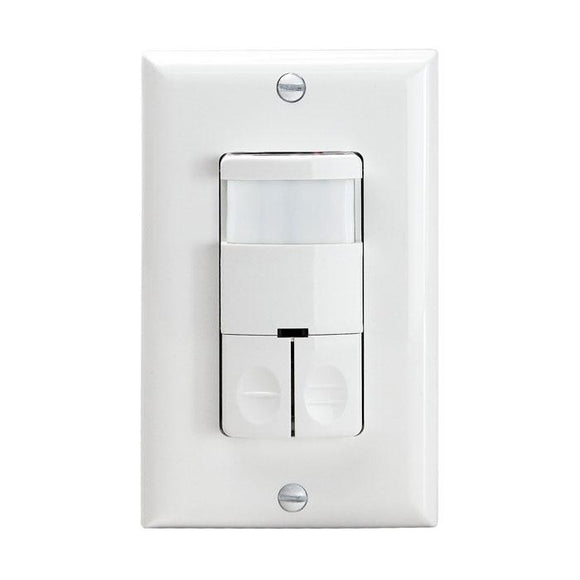 Enerlites DWOS-JD-W Dual Relay PIR Wall Sensor Switch - Ready Wholesale Electric Supply and Lighting