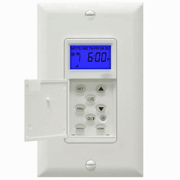 Enerlites HET01-H1-W - Astronomic In-Wall Programmable Timer with Interchangeable Face Cover - Ready Wholesale Electric Supply and Lighting
