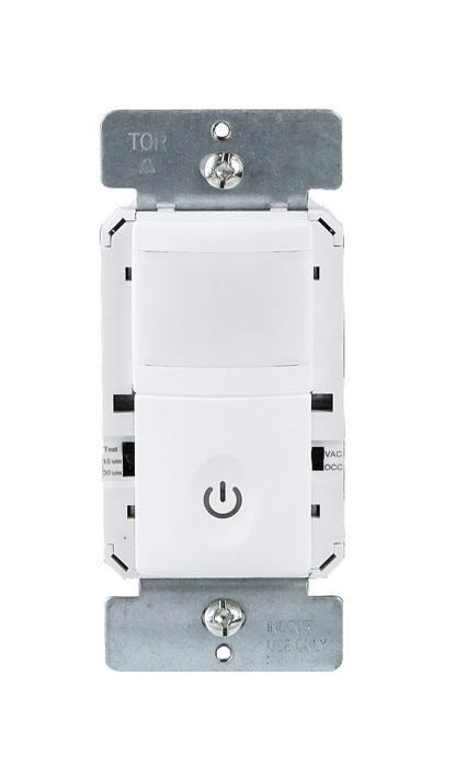 Enerlites HMVS-J-I PIR Vacancy Only Wall Sensor Switch with No Neutral Required - Ready Wholesale Electric Supply and Lighting