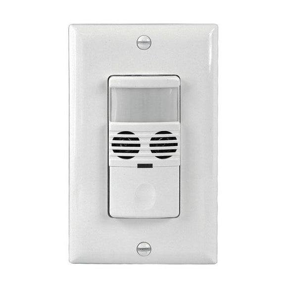 Enerlites MWOS-W Multi-Tech (PIR/Ultrasonic) Wall Sensor Switch - Ready Wholesale Electric Supply and Lighting