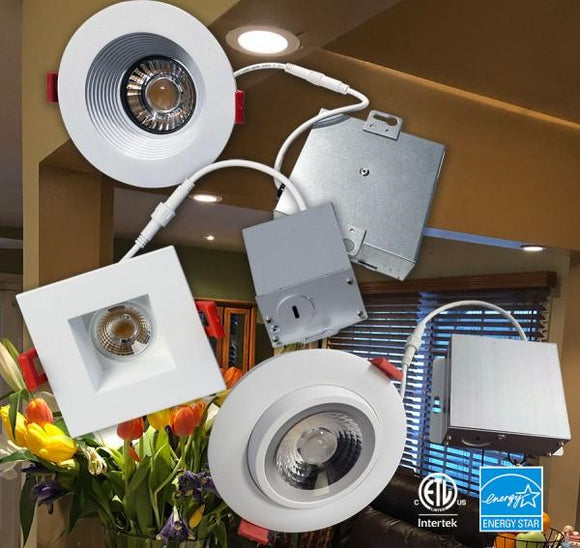 GM Lighting 120V MicroTask4 IC Rated Recessed LED Downlights - Ready Wholesale Electric Supply and Lighting