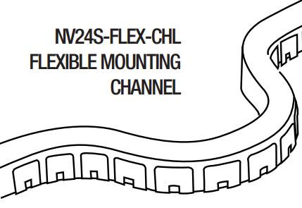 GM Lighting NV24S-FLEX-CHL Flexible Mounting Channel - 39.5 - Ready Wholesale Electric Supply and Lighting