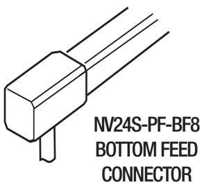 GM Lighting NV24S-PF-BF8 Tape to Power Flexible Bottom Feed - 8 ft. Length - Ready Wholesale Electric Supply and Lighting