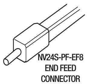 GM Lighting NV24S-PF-EF8 Tape to Power Flexible End Feed - 8 ft. Length - Ready Wholesale Electric Supply and Lighting