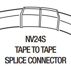 GM Lighting NV24S-SP Tape to Tape Splice Connector - Ready Wholesale Electric Supply and Lighting
