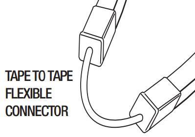 GM Lighting NV24S-TTC12 Tape to Tape 12 Flexible Connector - Ready Wholesale Electric Supply and Lighting