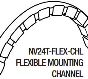 GM Lighting NV24T-FLEX-CHL Flexible Mounting Channel - 39.5 - Ready Wholesale Electric Supply and Lighting