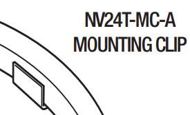 GM Lighting NV24T-MC-A Aluminum Mounting Clips (Set of 20) - Ready Wholesale Electric Supply and Lighting
